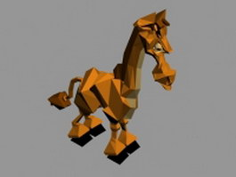 Giraffe cartoon 3d model