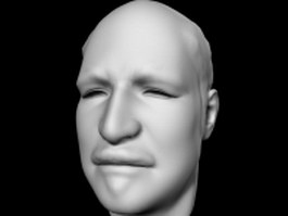 Man's head 3d model