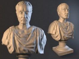 Bust Cesare sculpture statue 3d model