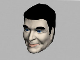 President Ronald Reagan head 3d model