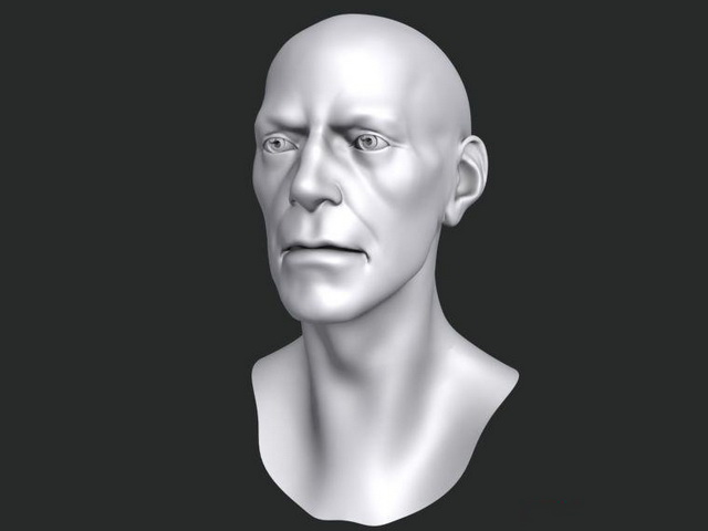 Bust of man 3d model Object,Zbrush files free download - modeling