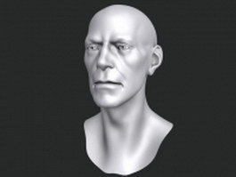 Bust of man 3d model