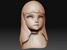 Girl head 3d model