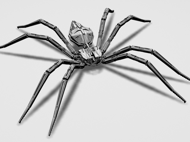 mechanical spider 3d model 3ds max files free download