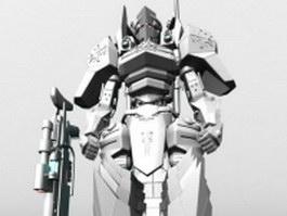 Humanoid mecha for video game 3d model