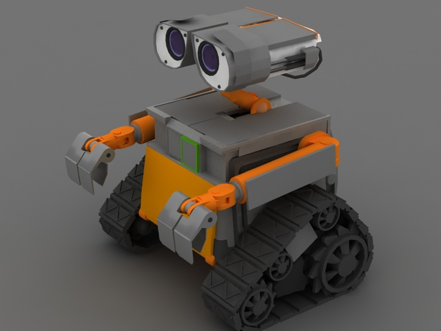 robot wall e 3d model 3ds max files free download modeling 22016