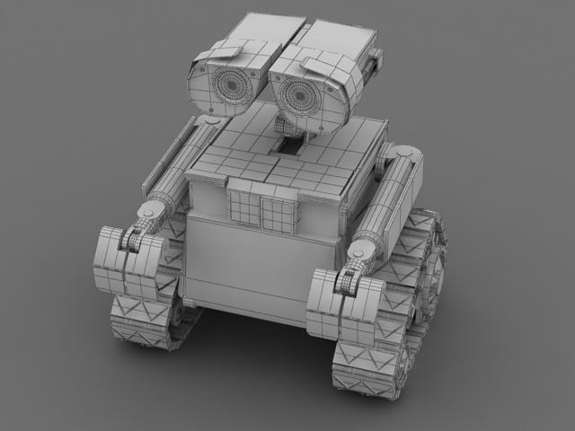 Robot Wall E 3d Model 3ds Max Files Free Download