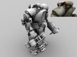 Space heavy marine 3d model