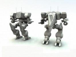 Assault mech robot 3d model