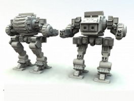 Battletech assault mech 3d model