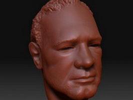 Italian man head 3d model