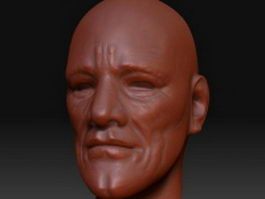 Older man head 3d model