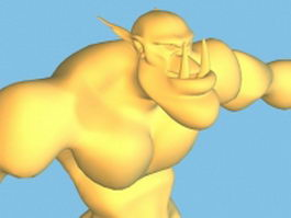 Cartoon Ogre 3d model