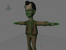 Animated Comics Tom Hanks 3d model