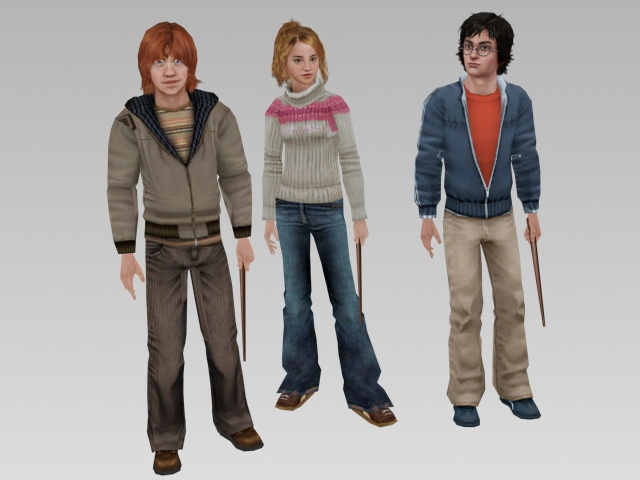 Harry Potter characters 3d model 3ds max,Lightwave,Maya,Object files