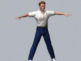 Casual man character 3d model