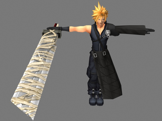cloud strife 3d model 3ds max files free download