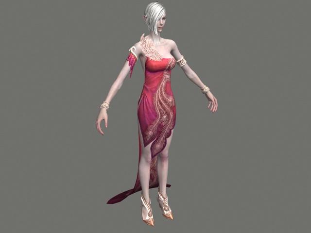 High elf female character 3d model - CadNav