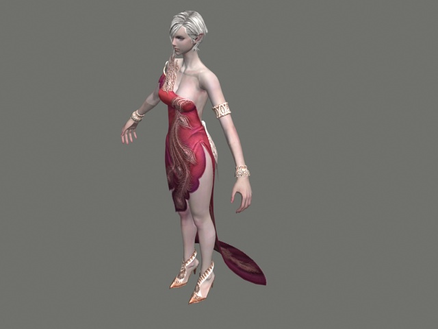 High elf female character 3d model 3ds max,FBX files free download