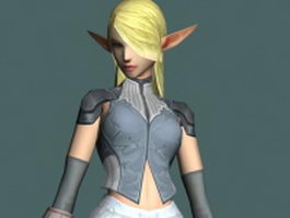Elf female character 3d model