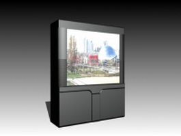 CRT rear-projection TV 3d model