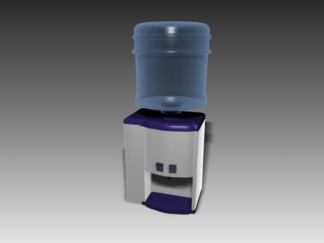 Desktop Mini Water Dispenser 3d Model 3d Studio 3ds Max