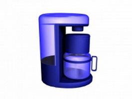 Personal mini coffee maker 3d model