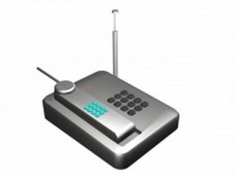 Wireless phone handset 3d model