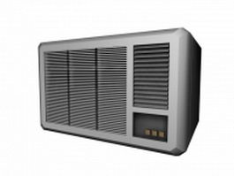 Window air conditioning unit 3d model