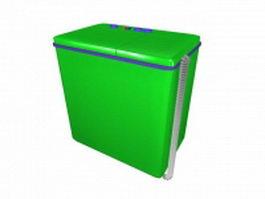 Retro washing machine 3d model