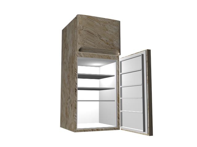Home refrigerator 3d model 3D Studio,3ds max,DXF files free download