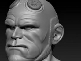 Hell boy head 3d model