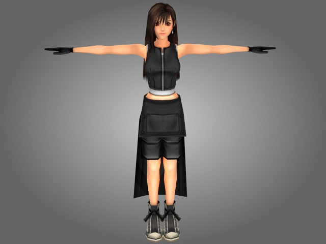 Fantasy Japanese girl 3d model 3ds max files free download ...