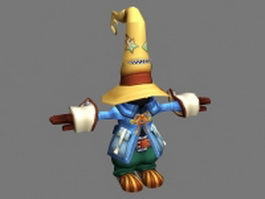 Cartoon evil wizard 3d model