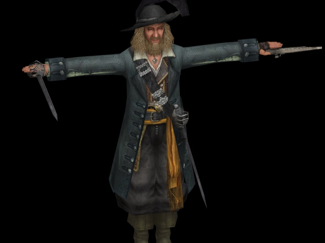 Hector Barbossa 3d Model 3ds Max Files Free Download