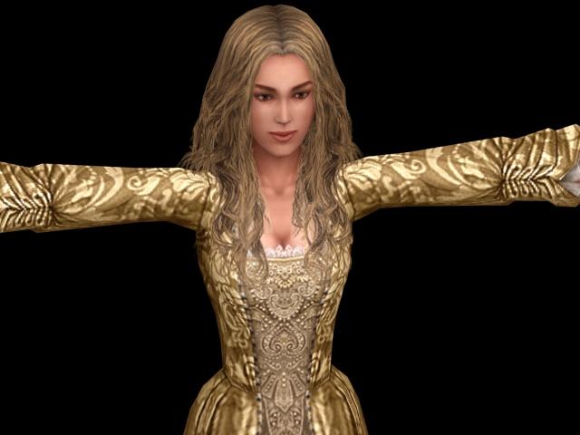 elizabeth swann 3d model 3ds max files free