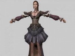 Fantasy woman character 3d model