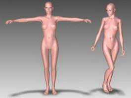 Female body character 3d model