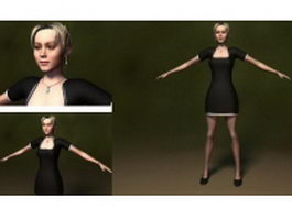 Sheath dress woman 3d model