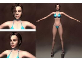 Bikini woman 3d model
