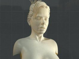 Female bust statue 3d model