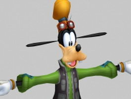 Funny animal Goofy 3d model