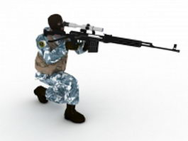 OMON with rifle 3d model