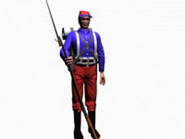 19th Century soldier 3d model