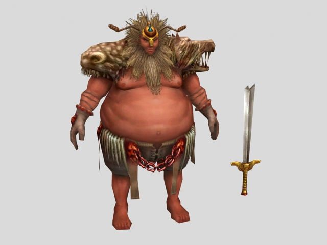 Barbarian King 3d Model 3ds Max Files Free Download