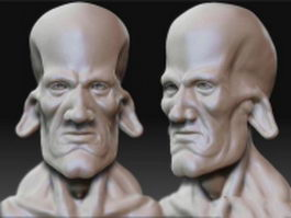 Pigman head 3d model