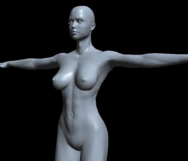 Woman body base mesh 3d model Object files free download - modeling