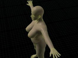 Big girl body rigged 3d model