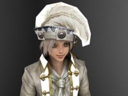 Handsome medieval prince 3d model