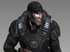 Future soldier concept 3d model
